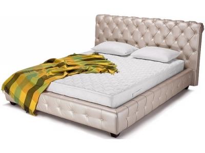 Кровать подиум с мягким изголовьем