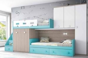 Двухъярусная детская кровать в детскую комнату