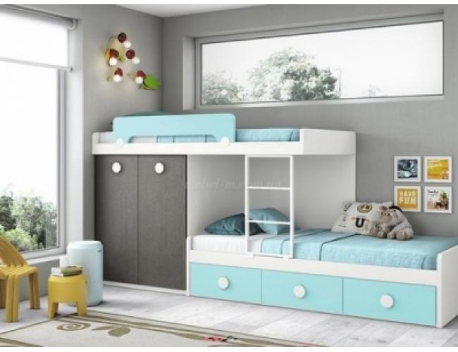 Детская кровать двухъярусная Адель для двух детей