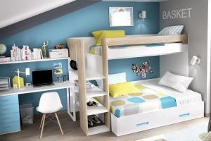 Комплекс детcкой мебели с двухъярусной кроватью