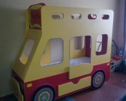 Детская кровать автобус двухъярусный