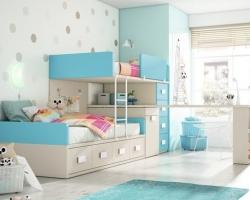 Двухъярусная детская кровать с детскую комнату