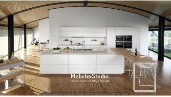 Кухня студио. барная стойка на кухне