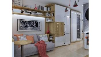 Smart ( смарт ) квартира 19 м2- интерьер