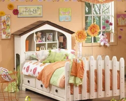 Детская кровать низкая Избушка
