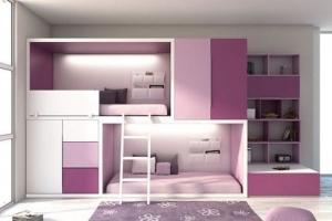 Комплес детской мебели с двухъярусной кроватью