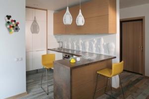 Современная кухня с барной стойокой
