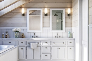 Ванная комната дизайн проекта под мансардой