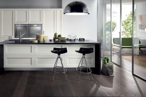 Белая кухня в стиле современная классика