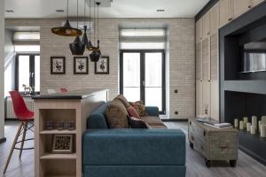 Стильный дизайн квартиры студио