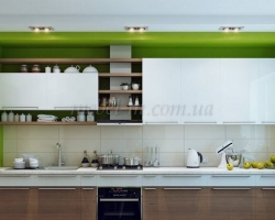 Прямая двухцветная кухня