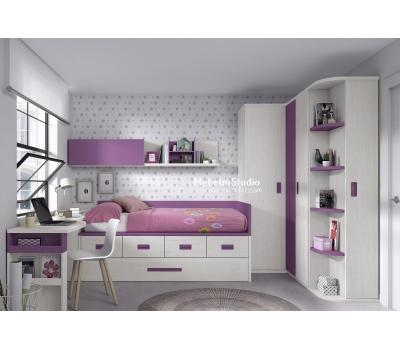 Детская мебель Кровать, Угловой шкаф, стол